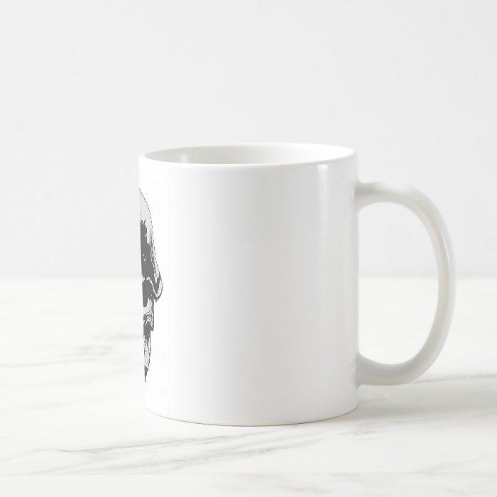 Death skull stalhelm coffee mug