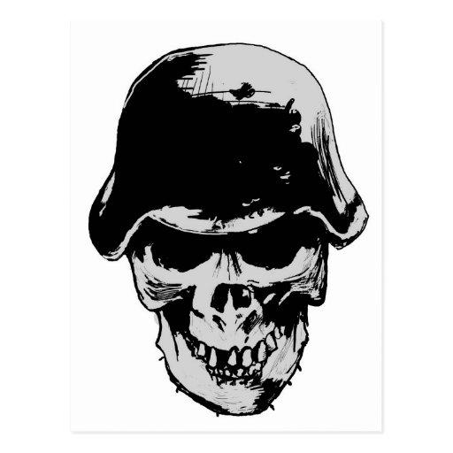 Death skull stalhelm post cards