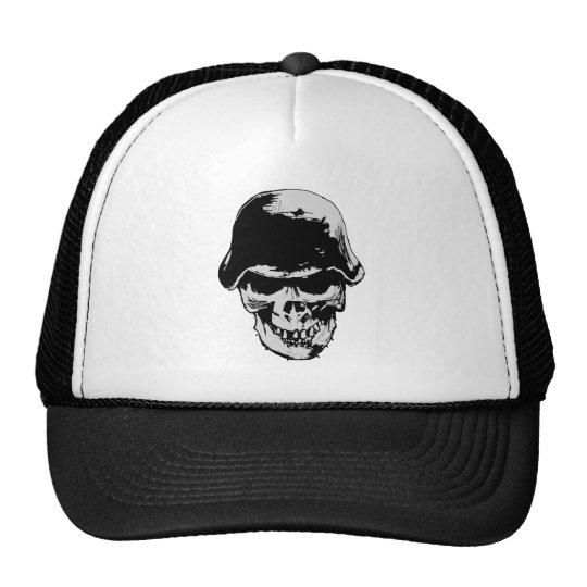 Death skull stalhelm trucker hat