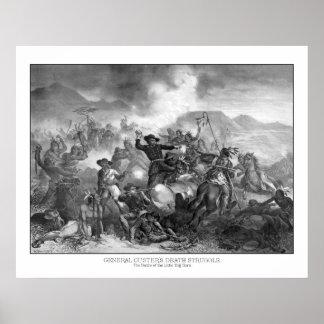 Death Struggle de general Custer Póster