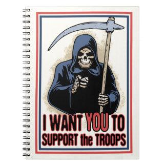 Death Support System Spiral Notebooks