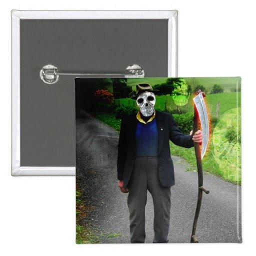 Death Tarot Card Art Pins