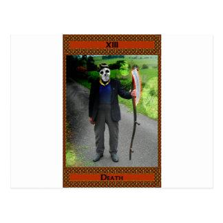 Death Tarot Card Art Postcard