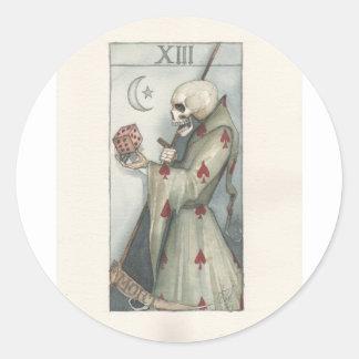 death tarot card dominic murphy classic round sticker