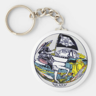 Death Tarot Card Keychain