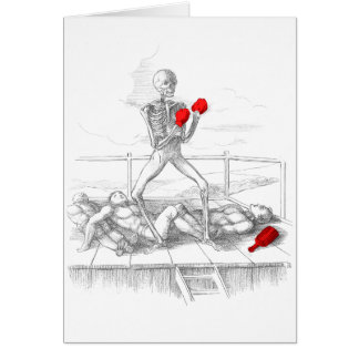 Death the Fisticuffs Champion Greeting Cards