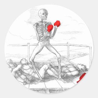 Death the Fisticuffs Champion Stickers