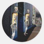 Death Through the Door Round Sticker