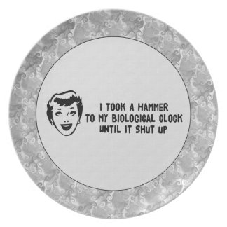 Death To Biological Clocks Party Plate