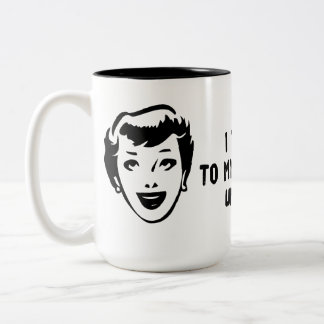 Death To Biological Clocks Two-Tone Coffee Mug