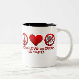 Death to Cupid Two-Tone Coffee Mug
