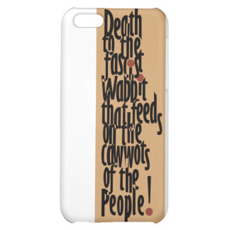 Death to the Fascist Wabbit! iPhone 5C Covers