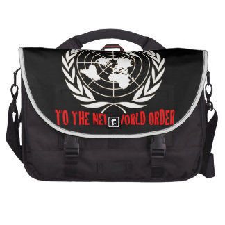 DEATH TO THE NEW WORLD ORDER COMPUTER BAG