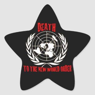 DEATH TO THE NEW WORLD ORDER STAR STICKER