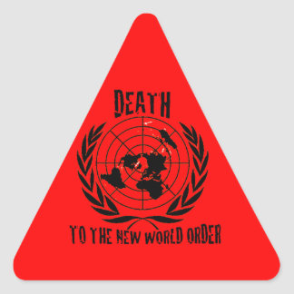 DEATH TO THE NEW WORLD ORDER TRIANGLE STICKER