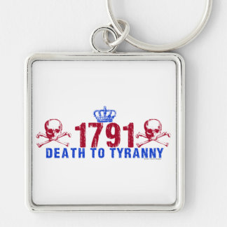 Death to Tyranny Silver-Colored Square Keychain