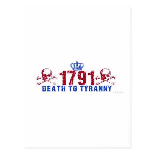 Death to Tyranny Postcard