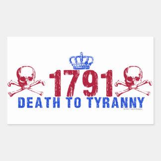 Death to Tyranny Rectangular Sticker