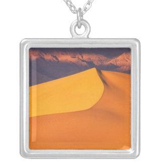 Death Valley at Dawn. California Square Pendant Necklace