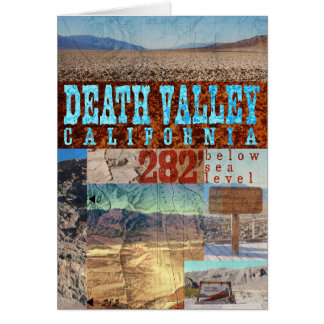 Death Valley, CA: 282' Below Sea Level - Notecard