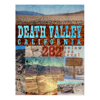 Death Valley, CA: 282' Below Sea Level - Postcard