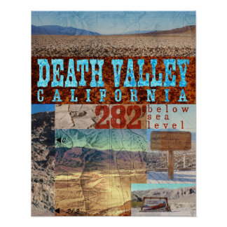 Death Valley, CA: 282' Below Sea Level - Poster