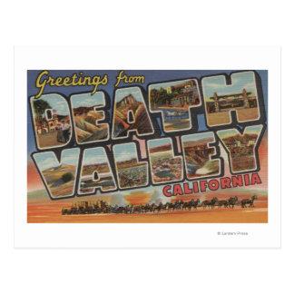 Death Valley, California - escenas grandes de la Tarjetas Postales