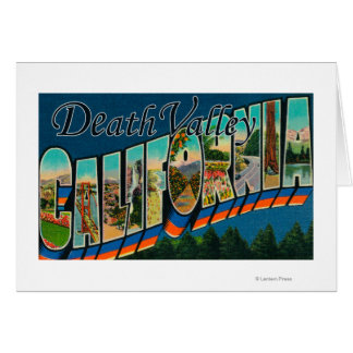 Death Valley, California - Large Letter Scenes 2 Card