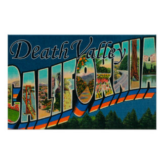 Death Valley, California - Large Letter Scenes 2 Poster