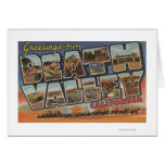 Death Valley, California - Large Letter Scenes Card