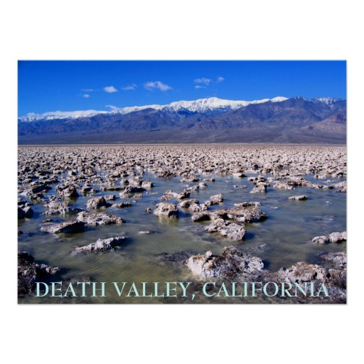 DEATH VALLEY, CALIFORNIA POSTER