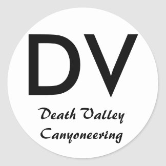 Death Valley canyoning sticker