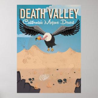Death Valley Cartoon vintage travel poster