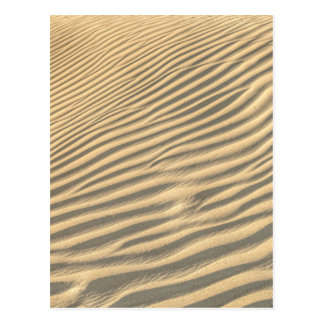 Death valley, desert natural sand dunes near devil postcard