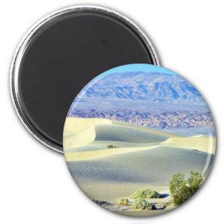 Death Valley Deserts Sand Dunes 2 Inch Round Magnet