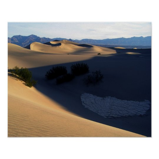 Death Valley Dunes in the Morning Poster
