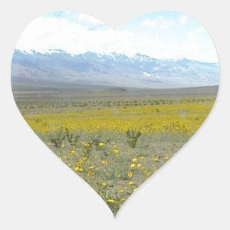 Death Valley en la floración Calcomania Corazon