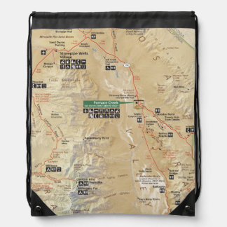 Death Valley map backpack
