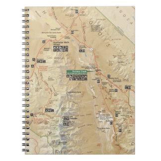 Death Valley map notebook