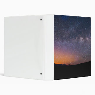 Death Valley milky way Sunset 3 Ring Binder