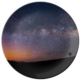 Death Valley milky way Sunset Dinner Plate
