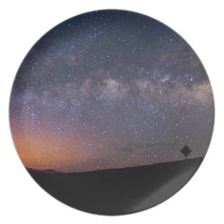 Death Valley milky way Sunset Melamine Plate