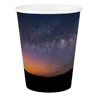 Death Valley milky way Sunset Paper Cup
