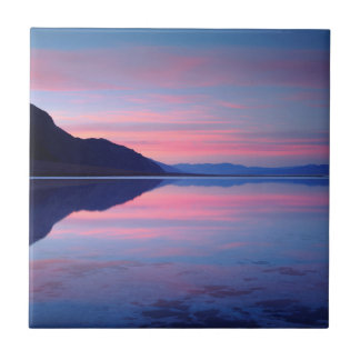 Death Valley National Park. Badwater at dawn Ceramic Tile