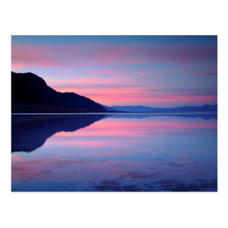 Death Valley National Park. Badwater at dawn Postcard