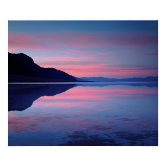 Death Valley National Park. Badwater at dawn Poster