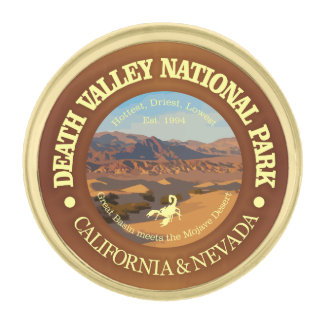 Death Valley National Park Gold Finish Lapel Pin