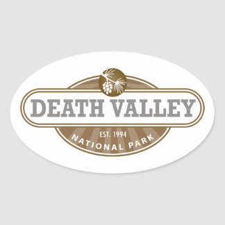 Death Valley National Park Oval Stickers