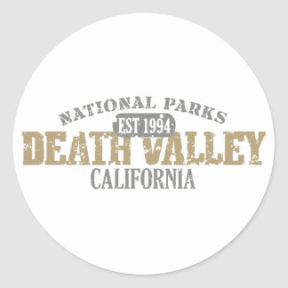 Death Valley National Park Round Stickers