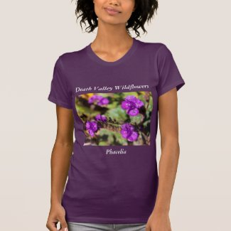 Death Valley Nature-Themed T-Shirt Phacelia Flower